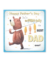 Fishing Father's Day Square Card