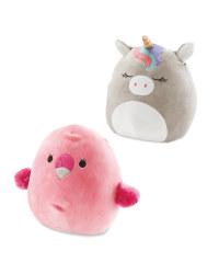 Flamingo & Unicorn Squishmallow Set
