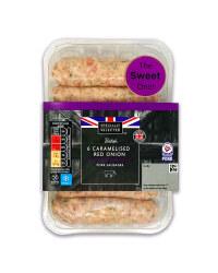 6 British Red Onion Pork Sausages