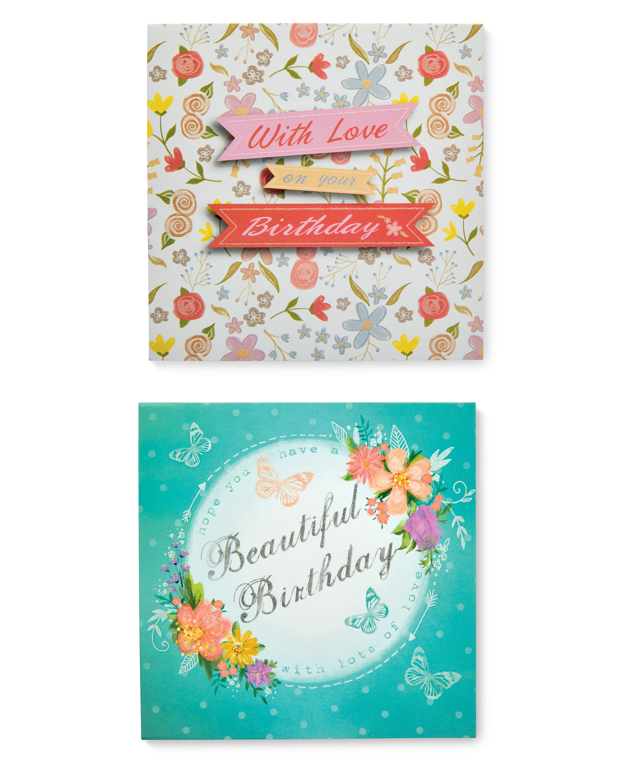 Floral Birthday Cards 10 Pack