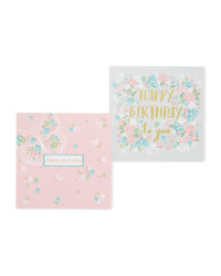 Floral Birthday Cards 10-Pack