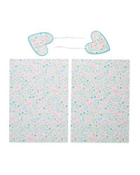 Floral Gift Wrap & Tags 2-Pack
