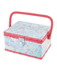 Floral Rectangle Sewing Box