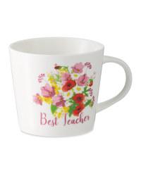 Floral Teacher Gift Mug