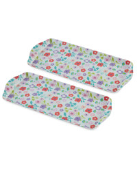 Ditsy Floral Tray Medium 2 Pack