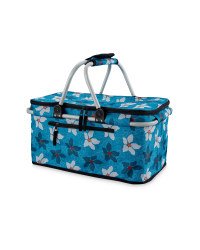 Floral Two-Handle Shopping Basket