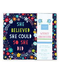 Floral Quote Weekly Organiser