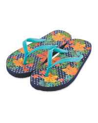 Children's Flower Flip Flops