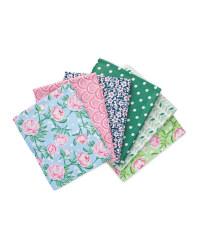 Flower Fabric Fat Quarters 6 Pack