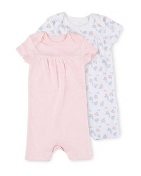 Lily & Dan Flowers Rompers 2 Pack