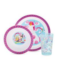 Fluffy 3 Piece Mealtime Set
