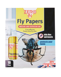 Zero In Fly Papers 10 Pack