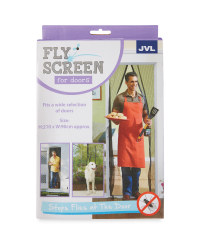 JVL Fly Screens for Doors - Black