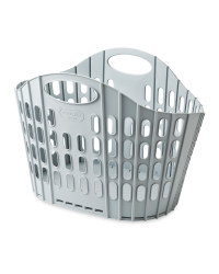 Fold Flat Laundry Basket - Grey