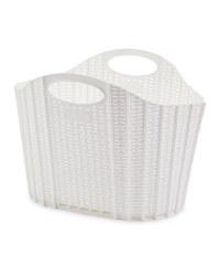 Addis Fold Flat Laundry Basket - White