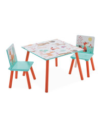 Forest Friends Table & Chairs Set