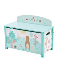 Large Forest Friends Wooden Toy Box