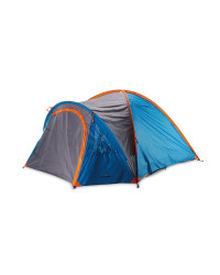 Four Person Dome Tent - Blue / Grey