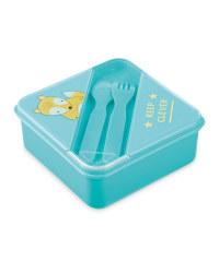 Fox Lunchbox With Cutlery