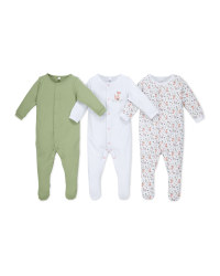 Fox Organic Baby Sleepsuit 3 Pack
