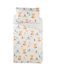 Fox Toddler Bed Duvet Cover Set