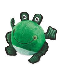 Frog Plush Football Dog Toy