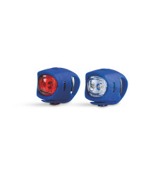 Front and Rear Silicone Bike Lights - Blue