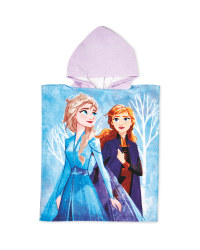 Frozen Hooded Poncho Towel