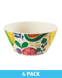 Fruit Bamboo Bowls 4 Pack
