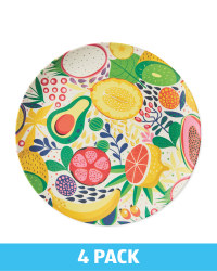 Fruit Bamboo Plates 4 Pack