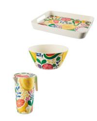 Fruit Bamboo Serveware Set