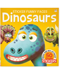 Funny Dinosaurs Sticker Face Book