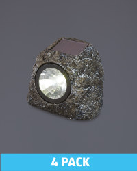 Garden Bright Solar Rock Lights 4Pk