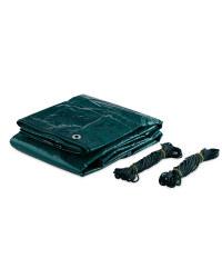 Gardenline 3x2m Tarpaulin 2-Pack - Green