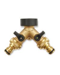 Gardenline Brass Hose Y-Splitter