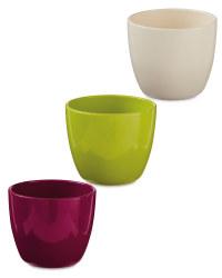 Gardenline Oval Ceramic Pots 15cm