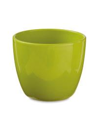 Gardenline Oval Ceramic Pots 15cm - Green