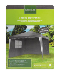 Gardenline Gazebo Side Panels - Anthracite