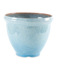 Gardenline Glazed Effect Pot - Blue