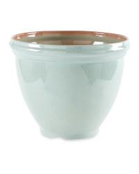 Gardenline Glazed Effect Pot - Green
