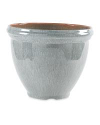 Gardenline Glazed Effect Pot - Grey