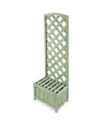 Gardenline Lattice Wooden Planter - Green