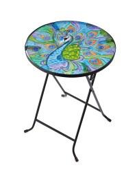 Gardenline Peacock Glass Table