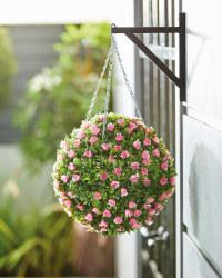 Gardenline Pink Rose Topiary Ball