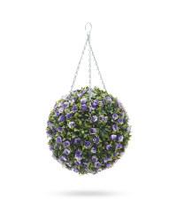 Gardenline Purple Rose Topiary Ball