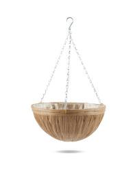 Gardenline Round Hanging Basket - Natural