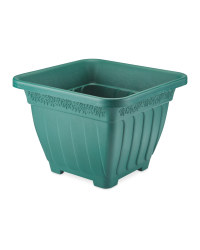 Gardenline Self-Watering Square Pot - Green