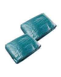 Gardenline 3x2m Tarpaulin 2 Pack - Green