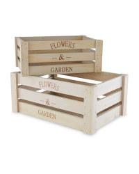 Gardenline Wooden Crates 2-Pack