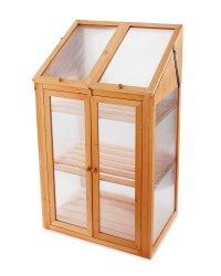 Gardenline Wooden Mini Greenhouse